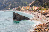 Relax on the beach of Monterosso in Italy — Stock Photo