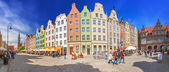 Panorama of the Long Lane street in Gdansk, Poland — Stock Photo