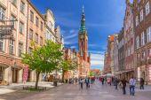 The Long Lane street in old town of Gdansk, Poland — Stock Photo