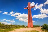 Millenium kříž na kopci v Gdaňsku — Stock fotografie