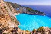 Beautiful Navagio Beach on Zakynthos, Greece — Stock Photo