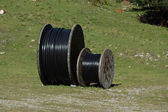 Cable drums — Stock Photo