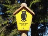Sign Nature Reserve — Stock Photo
