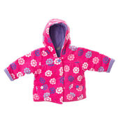 Girls fleece jacket on white background — Stock Photo