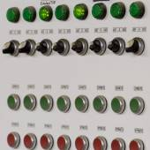 Control panel with buttons and levers  — Stock Photo
