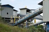 Belt conveyors in a quarry — Stock Photo