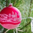 Christmas decoration on the tree — Stock Photo #61415237