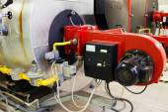 Industrial gas boiler — Stock Photo