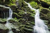 Waterfall from ravine — Stock Photo