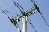 Powerlines against a background of the sky — Stock Photo
