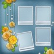 Vintage background for album or congratulation card with roses a — Stock Photo #53254089