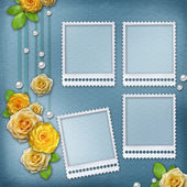 Vintage background for album or congratulation card with roses a — Stock Photo