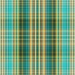 Textile plaid background in cyan, green, beige, yellow — Stock Photo #55298207