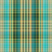 Textile plaid background in cyan, green, beige, yellow — Stock Photo