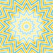 Background with bright geometric star, sun — Stock Photo