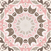 Ornamental round pattern, abstract shapes design background — Stock Photo