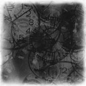 Abstract vintage time conceptual in black tones — Stock Photo