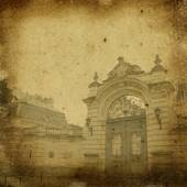 Potocki Palace -  sepia ancient  background — Stock Photo
