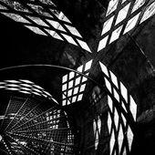 Black and white geometric background — Stock Photo