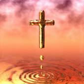 Holy Cross of Gold — Stock Photo