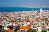 IZMIR, TURKEY - OCTOBER 04, 2014:  Birds eye view with the  Agor — Stock Photo