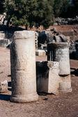 Antike Säulen, Geschichten in Stein gemeißelt — Stockfoto