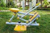 Beautiful modern fitness equipment outdoors — Stok fotoğraf