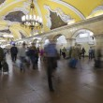 MOSCOW   metro station Komsomolskaya, Russia. Metro station Komsomolskaya is a great monument of the Soviet era. — Stock Photo #56125145