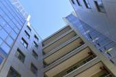 Modern business centre, view from below — Stock Photo