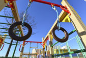 Childrens sports complex outdoors — Stockfoto