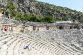 DEMRE, TURKEY - September 16, The ancient Greco-Roman theater in  Lycian city of Myra, Turkey. — Stock Photo