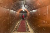 Moscow, Russia - NOVEMBER 29, 2014, Nuclear bunker, a former Soviet secret military facility - alternate command post of long-range aviation, object number 20 — Stock Photo