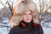 Boy in the winter hat — Stock Photo