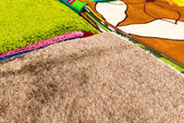 Fragment of wool carpet close-up — Stock Photo