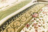 Fragmento del primer plano de alfombra de lana — Foto de Stock