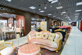 MOSCOW, RUSSIA - MARCH 05 2015. Interior Furniture shopping complex Grand. Furniture shopping mall GRAND -  largest specialty shop in Russia and Europe. — Stock Photo