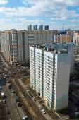 MOSCOW, RUSSIA - March 10 2015, Area of new buildings on  outskirts of Moscow — Stock Photo