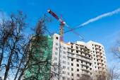 Construction of  multi storey residential house — Stock Photo