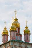 Church in the Trinity Sergius Lavra in Sergiev Posad. Russian Federation — Stockfoto