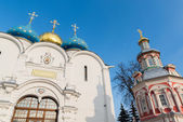 The great Trinity monastery in Sergiyev Posad near Moscow.Golden Ring of Russia — Stok fotoğraf