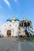 Sergiev Posad, Russia - March 28, 2015. The great Trinity monastery in Sergiyev Posad near Moscow. Golden Ring of  Russia — Foto Stock