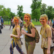 ������, ������: MOSCOW RUSSIA MAY 23 2015: Festival of colors Holi in the Luzhniki Stadium Roots of this fest are in India where it called Holi Fest Now russian people celebrate it too