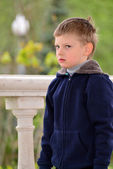 Six year old boy on a walk — Stock Photo