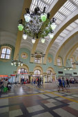 MOSCOW, RUSSIA - 17.06.2015. The interior of  Kazansky  railway station. Built in 1862. — Stock Photo