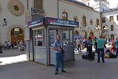 MOSCOW, RUSSIA - 17.06.2015. The interior of  Kazansky  railway station. — Stock Photo