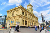 MOSCOW, RUSSIA - 17.06.2015. Leningradsky railway station. Built in 1849 — Stock Photo