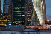 Mosca, RUSSIA - 23.03.2015 The Moscow International Business Center, Moscow-City on September 17, 2012 in Moscow. Located near the Third Ring Road, the Moscow-City area is currently under development. — Fotografia Stock