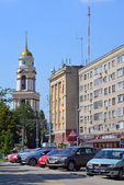 Lipetsk, RUSSIA - 05.08.2015. View of  Cathedral of Nativity in the Cathedral Square — Stock Photo