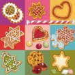 Christmas cookies — Stock Vector #53306131