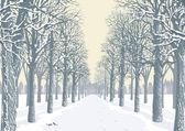 Winter day — Stock Vector